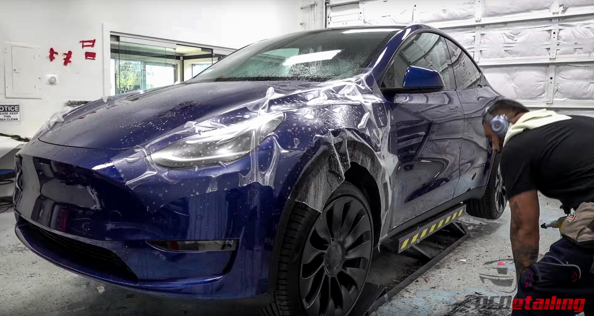 Tesla Model Y XPEL PPF treatment