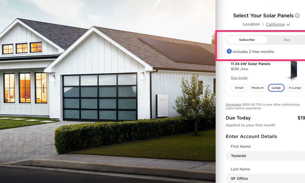 Tesla Solar Panel Subscription