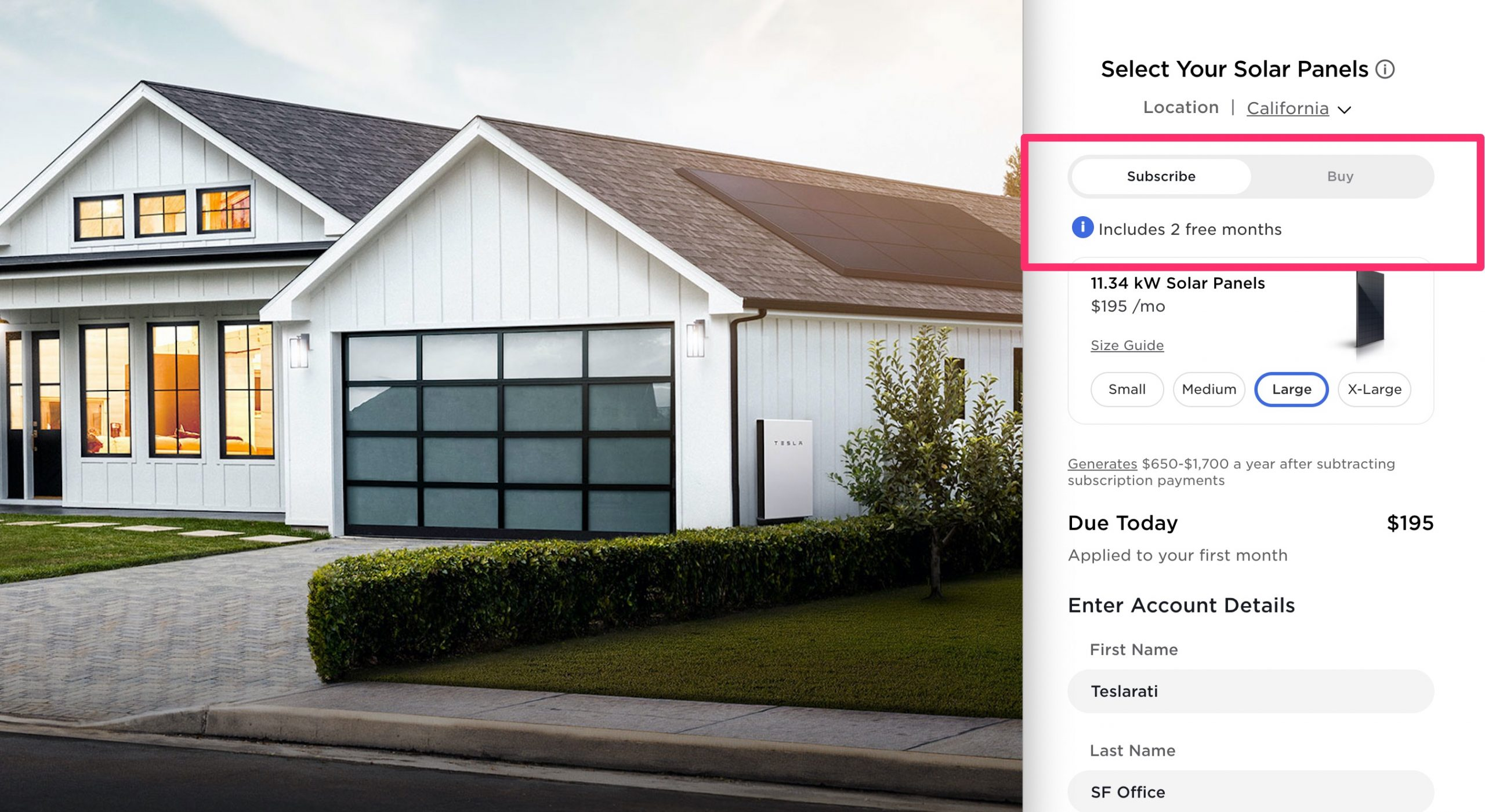 Tesla Solar Panel Subscription