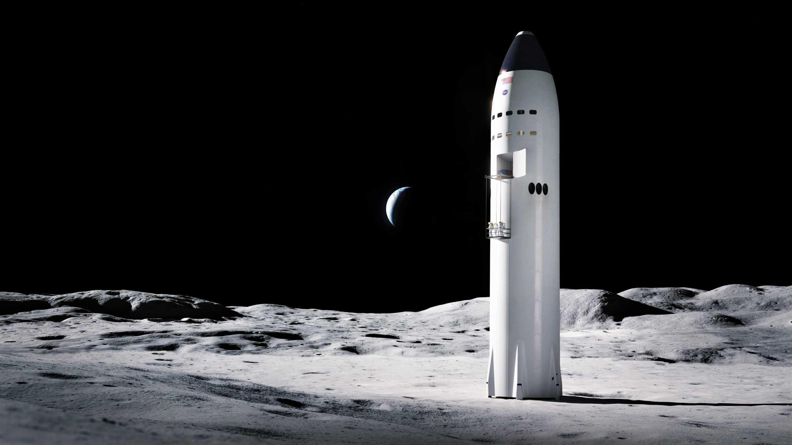 Lunar Starship Artemis (SpaceX) render 2 edit (c)
