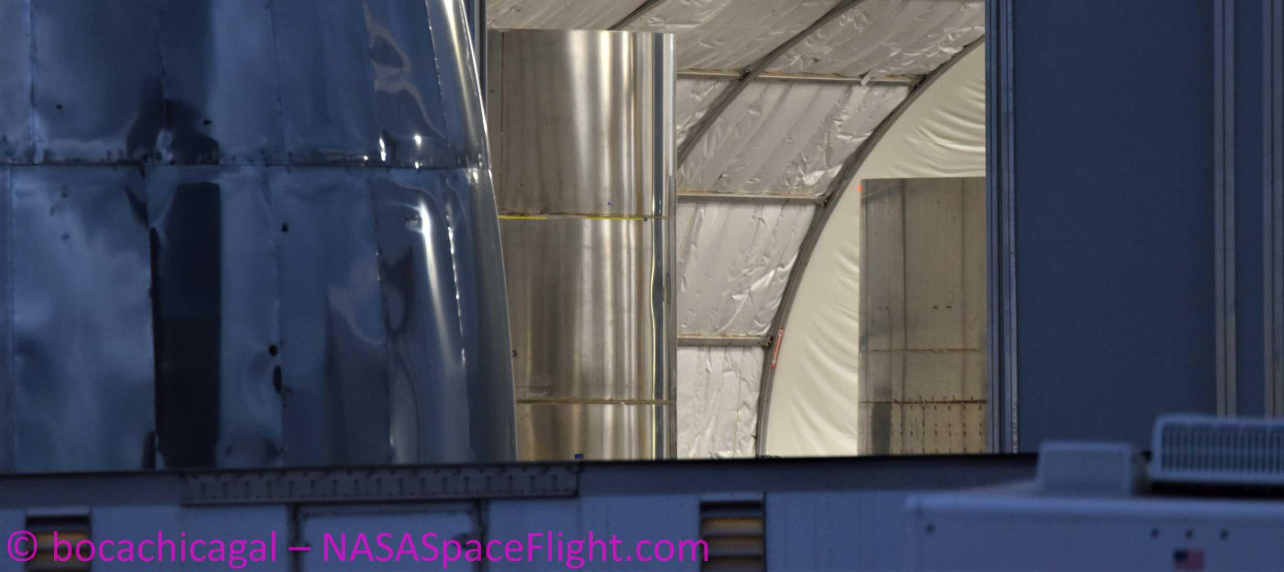 Starship Boca Chica 041520 (NASASpaceflight – bocachicagal) SN5 barrels 1 crop (c)