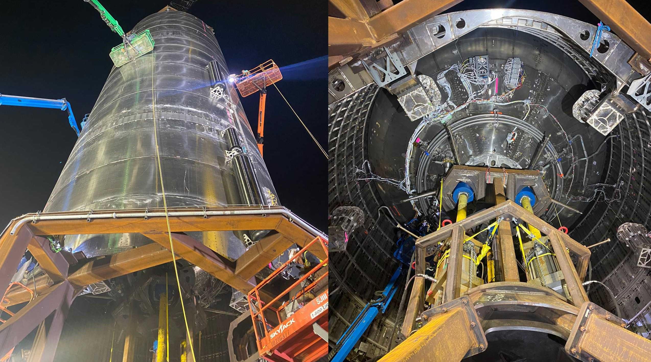 Starship SN3 pad work 032920 (Elon Musk) panel 1 (c) 1