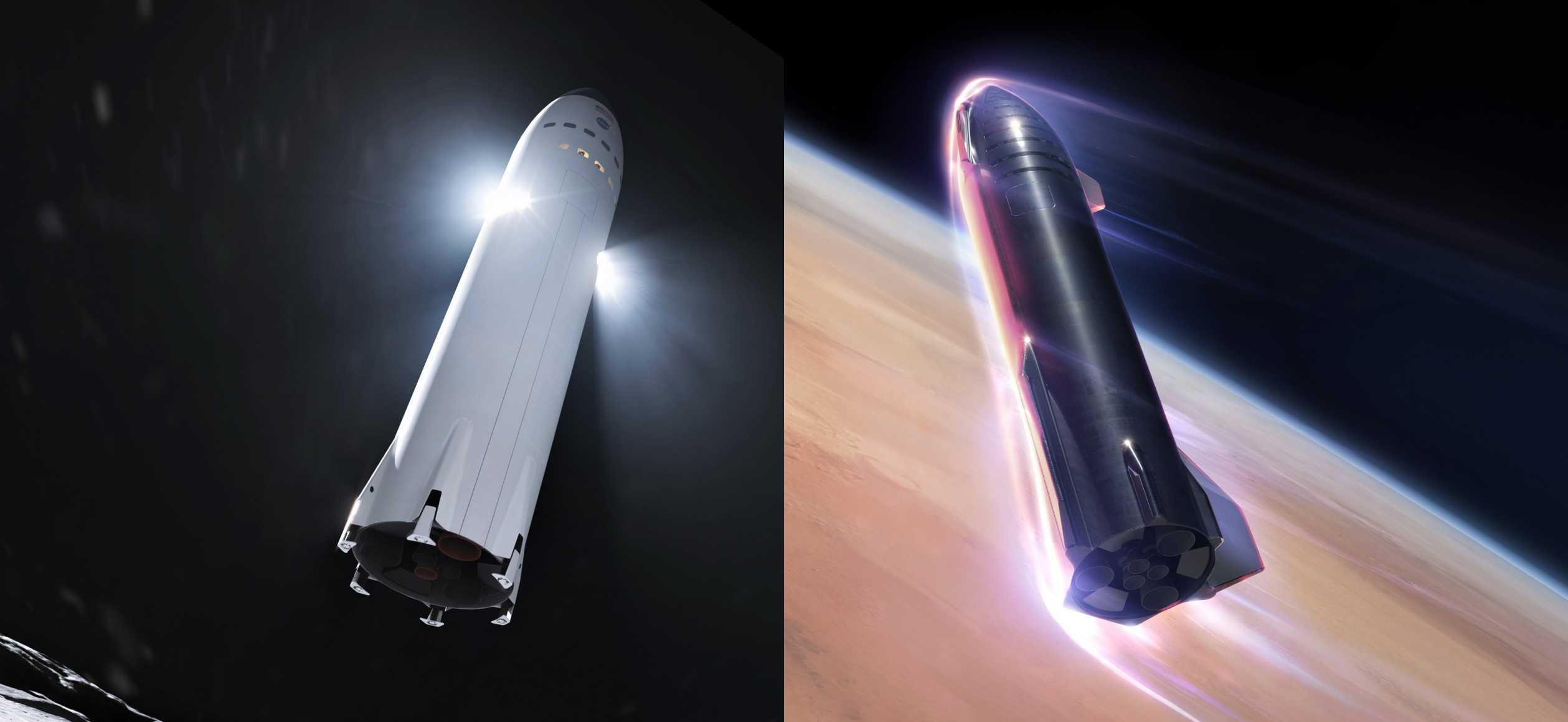 Starship (SpaceX) Moon vs Mars 1 (c)
