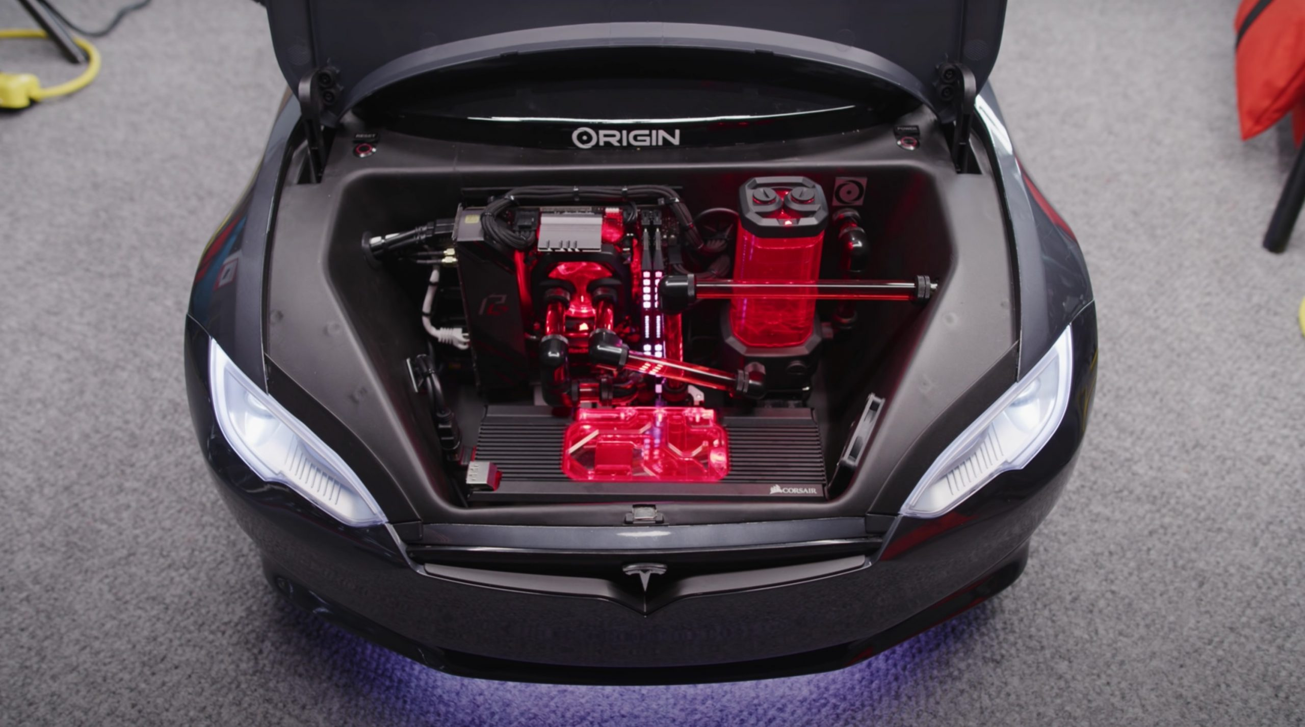 Tesla Model S for Kids Origin PC gaming system