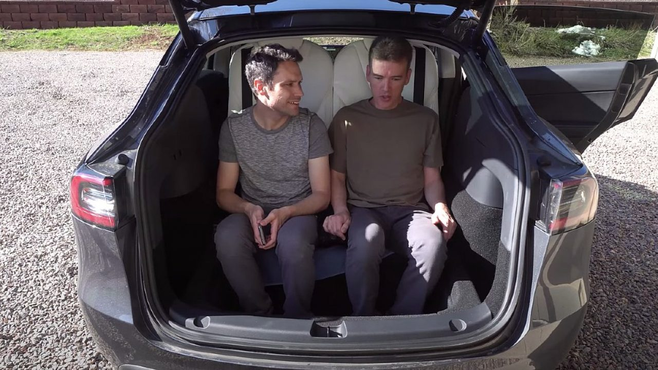 Tesla Model Y Third Row Seat Test Explores Options For A Comfortable 7 Seat Setup