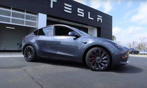 Tesla Model Y Performance delivery center
