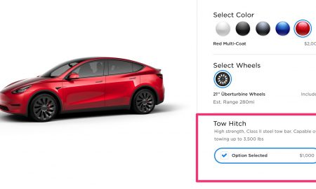 Tesla Model Y Tow Hitch Option