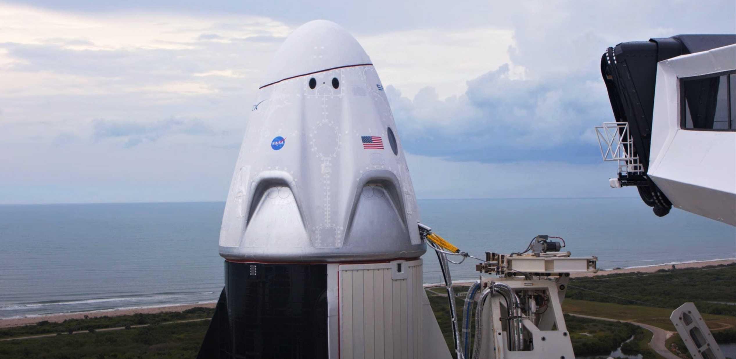 Crew Dragon C206 F9 B1058 Demo-2 052720 webcast (SpaceX) CAA retract 2 (c)