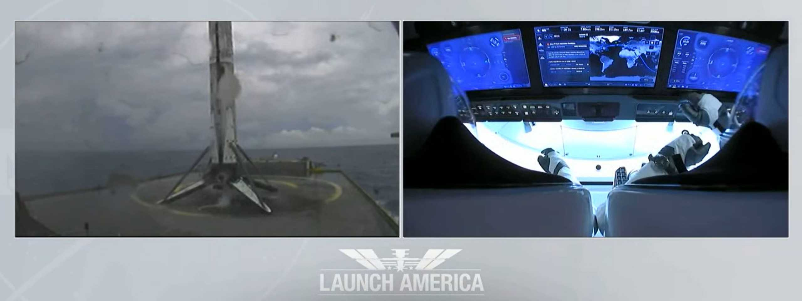 Crew Dragon C206 F9 B1058 Demo-2 053020 webcast (SpaceX) OCISLY 1 (c)
