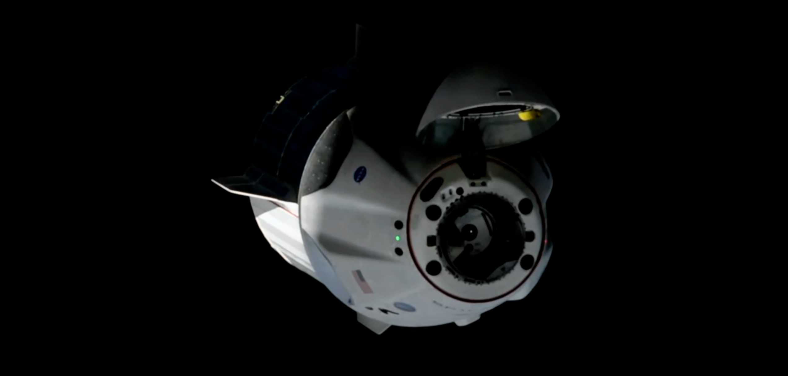 Crew Dragon C206 F9 B1058 Demo-2 053120 ISS arrival webcast (SpaceX) 11 (c)