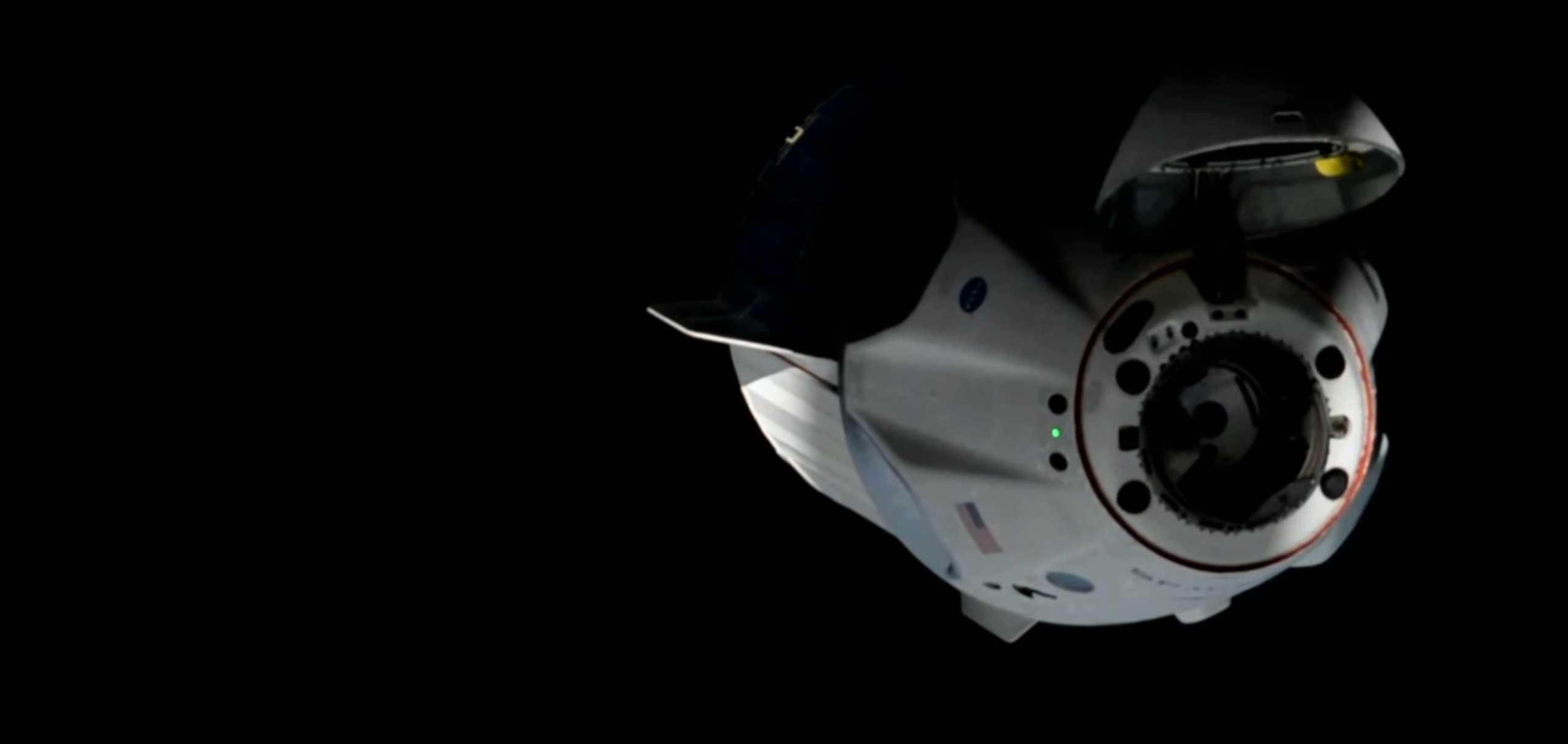 Crew Dragon C206 F9 B1058 Demo-2 053120 ISS arrival webcast (SpaceX) 12 (c)