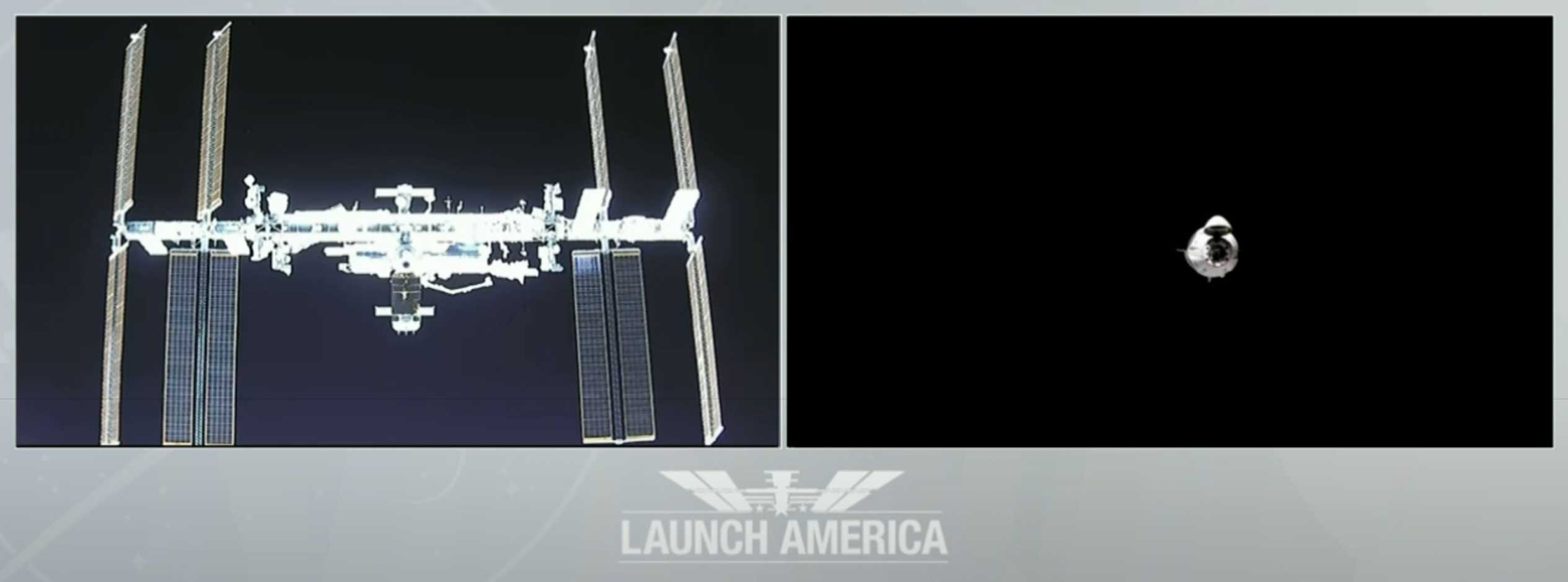 Crew Dragon C206 F9 B1058 Demo-2 053120 ISS arrival webcast (SpaceX) 7 (c)