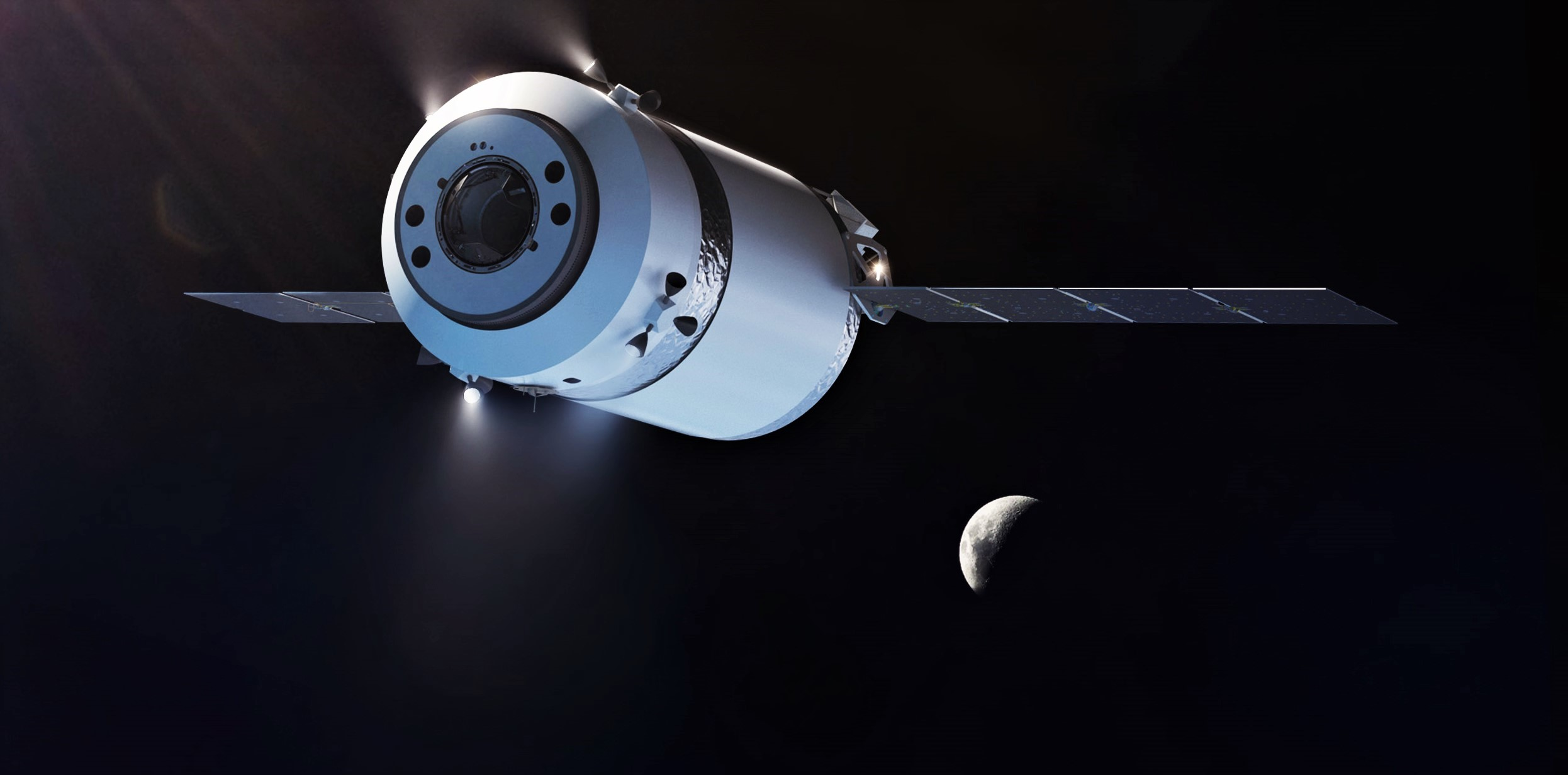 Dragon XL Falcon Heavy render (SpaceX) 1 crop