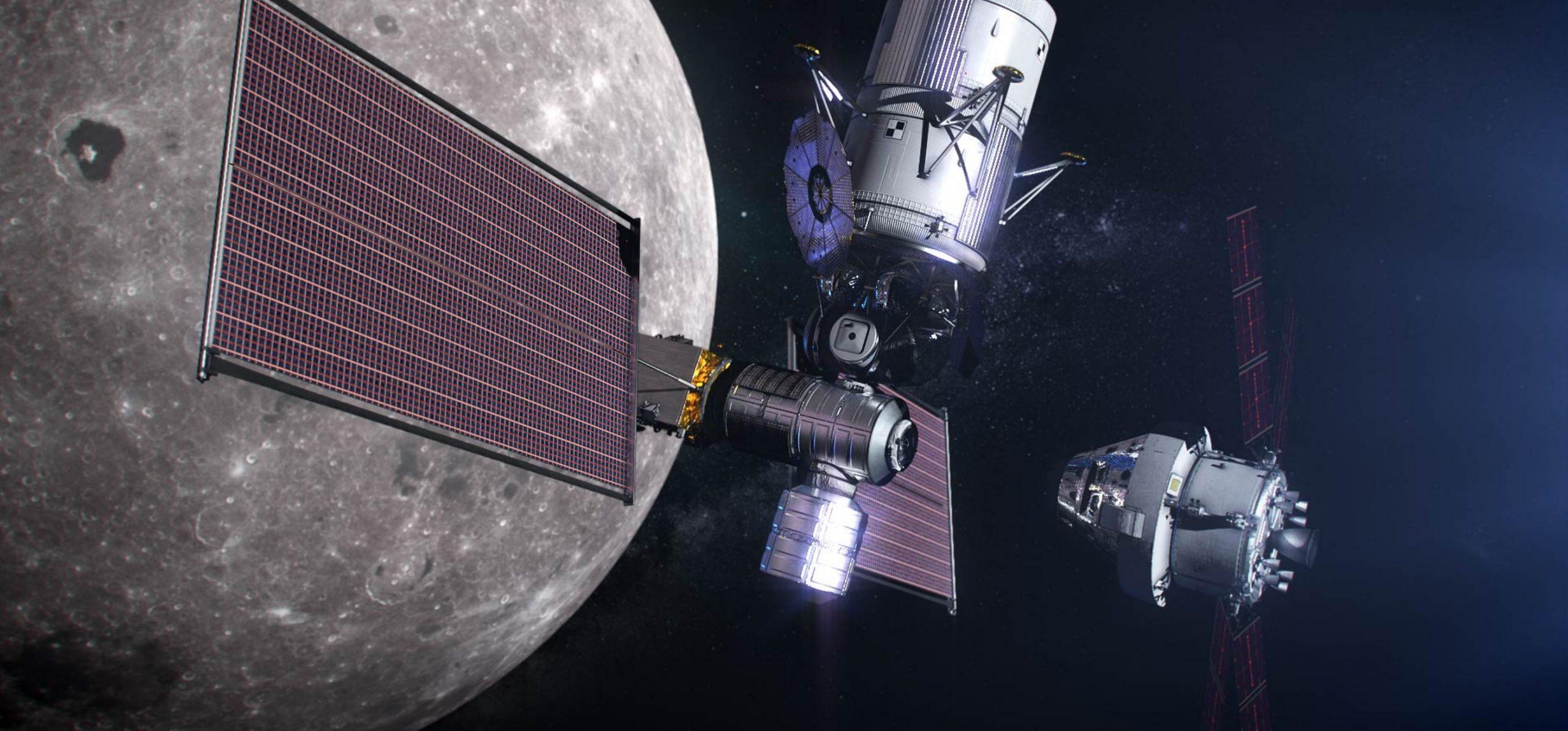 Gateway PPE + habitation module (NASA) render 3