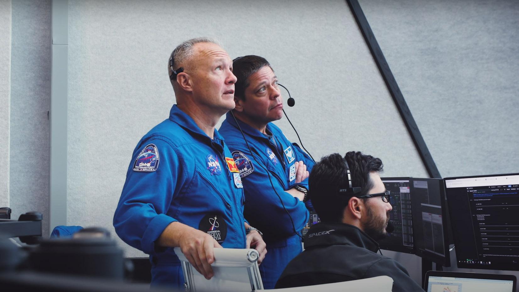 SpaceX Crew Dragon Astronauts Bob Behnken Doug Hurley