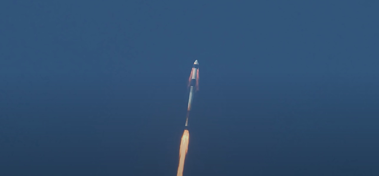 SpaceX Crew Dragon In Flight Abort Super Draco
