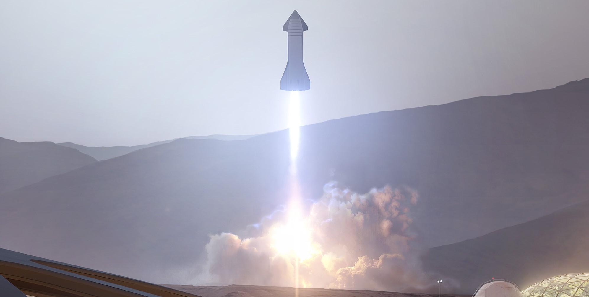 Starship 2019 Mars base interior render (SpaceX) 1 crop