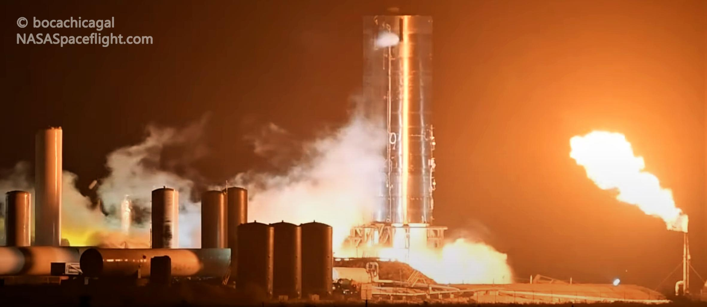 Starship Boca Chica 050420 (NASASpaceflight – bocachicagal) SN4 preburner test 1 crop (c)