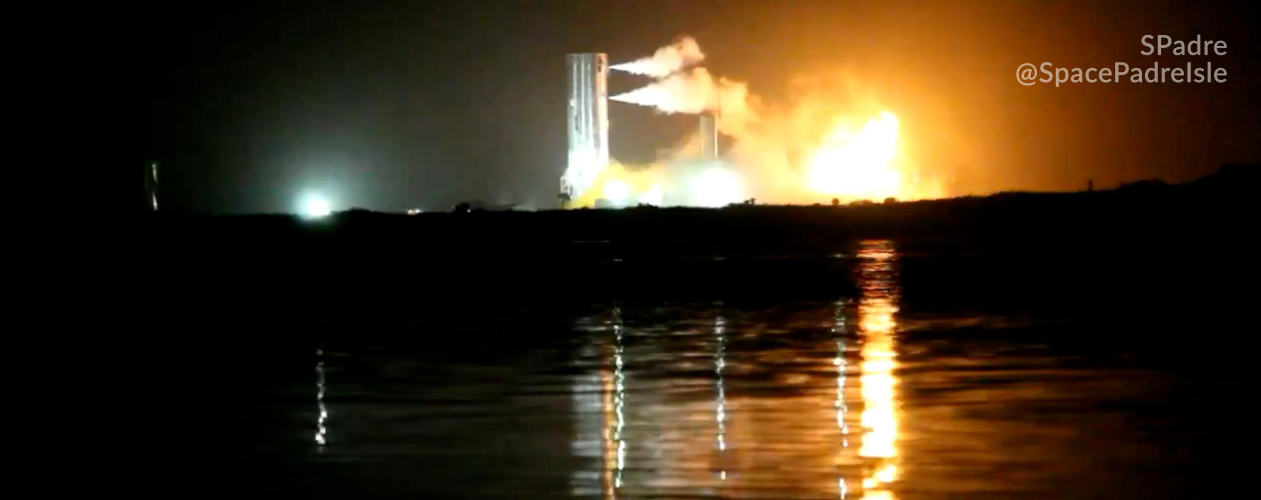 Starship Boca Chica 050520 (SPadre) SN4 static fire attempt 1 (c)