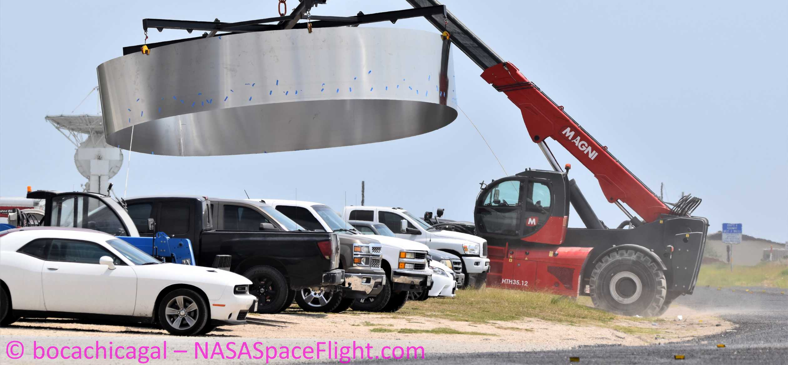 Starship Boca Chica 050620 (NASASpaceflight – bocachicagal) SN6 ring work 3 crop 2 (c)
