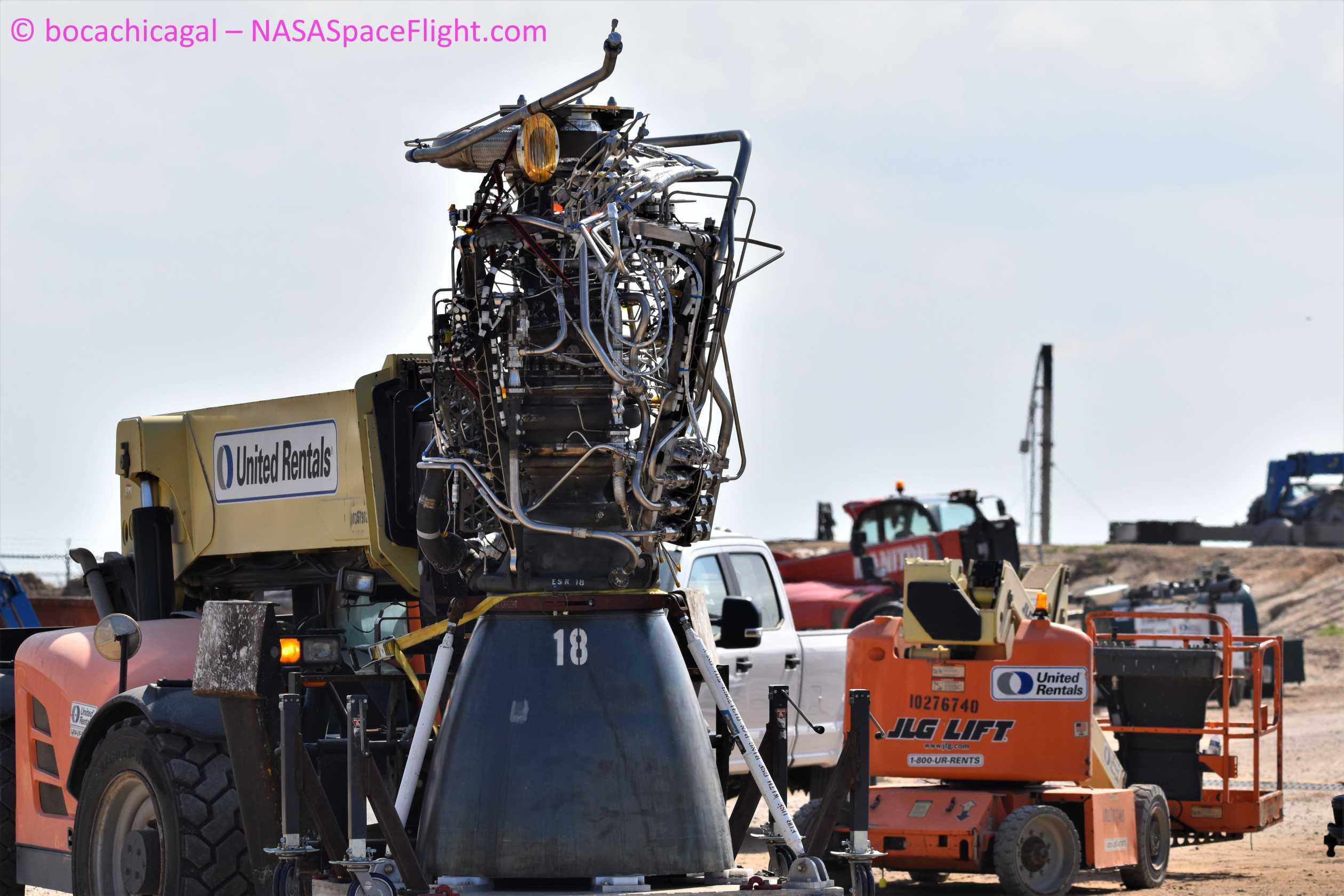 Starship Boca Chica 050720 (NASASpaceflight – bocachicagal) SN4 Raptor removal 5 (c)