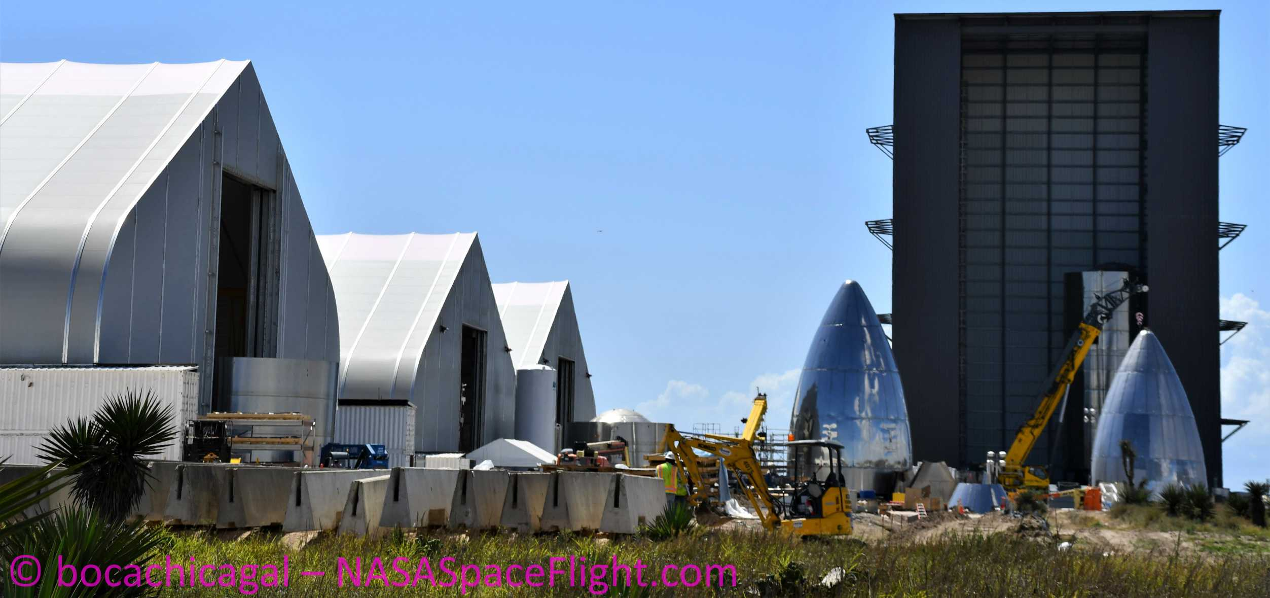Starship Boca Chica 051020 (NASASpaceflight – bocachicagal) SN5 SN6 work 1 crop (c)