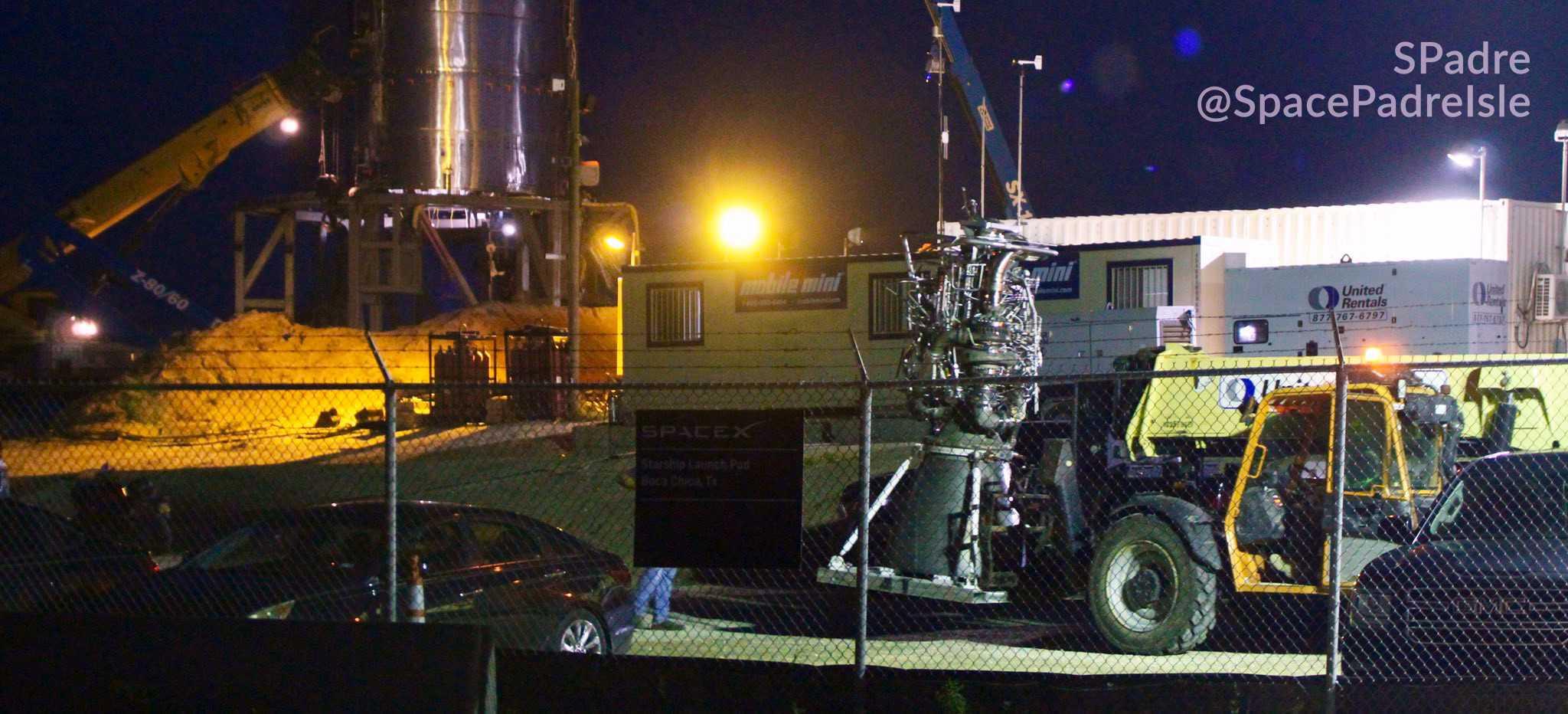 Starship Boca Chica 051020 (SPadre) SN4 Raptor SN20 delivery 2 (c)