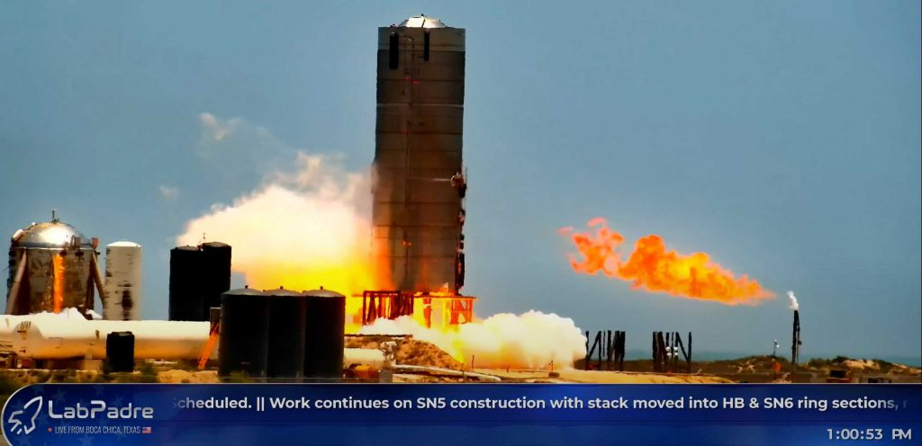 SpaceX Starship rocket catches fire during third Raptor engine test
