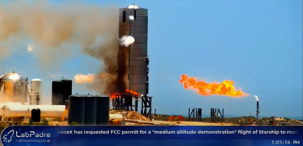 SpaceX Starship prototype in limbo after engine test lights rocket on fire