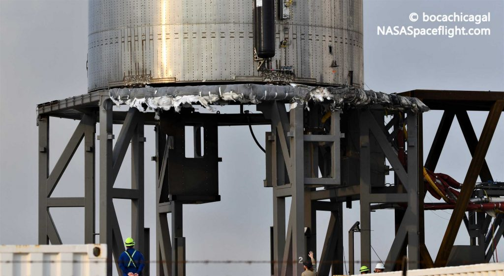 SpaceX Starship prototype charred but intact after catching fire [photos]