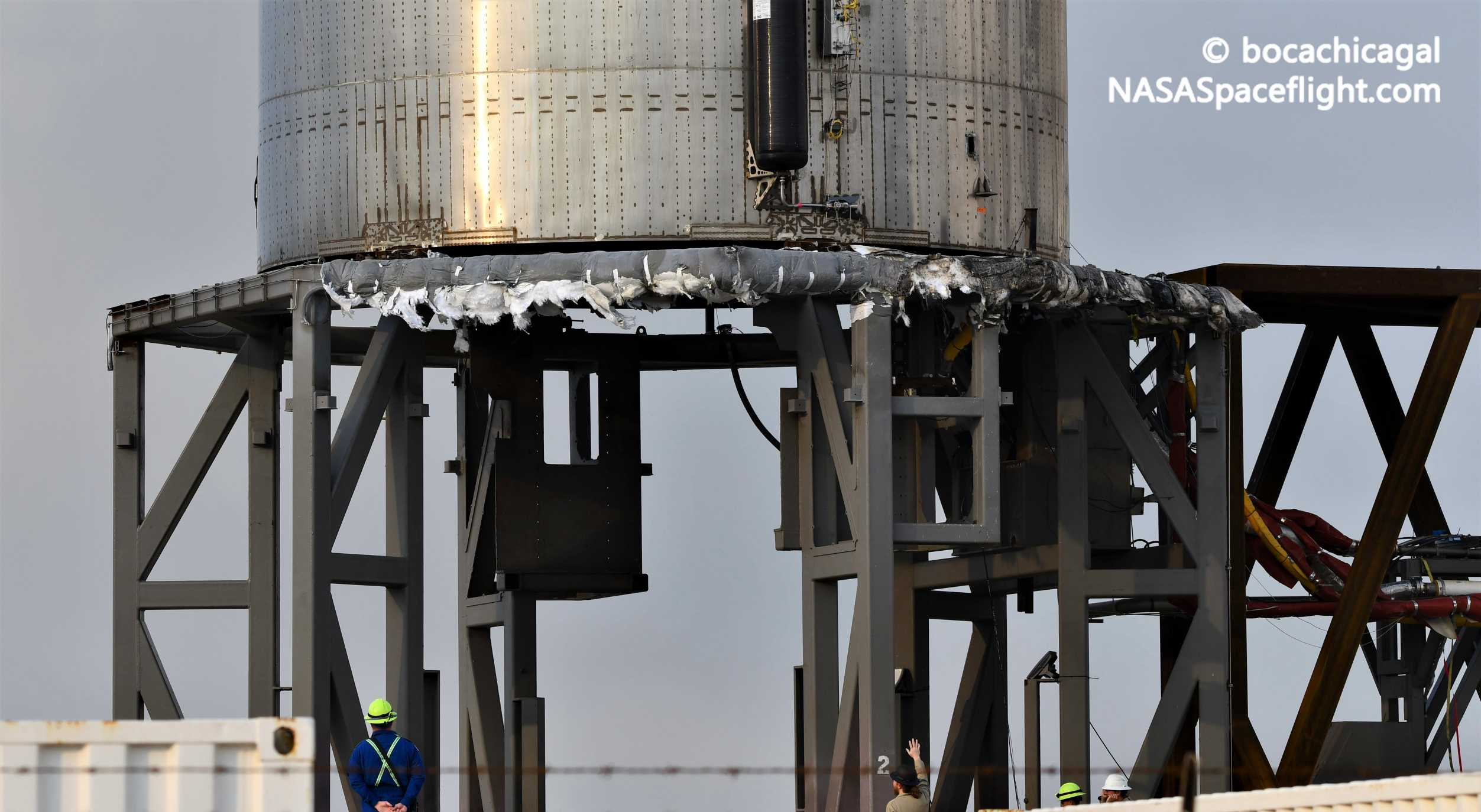 Spacex Starship Prototype Charred But Intact After