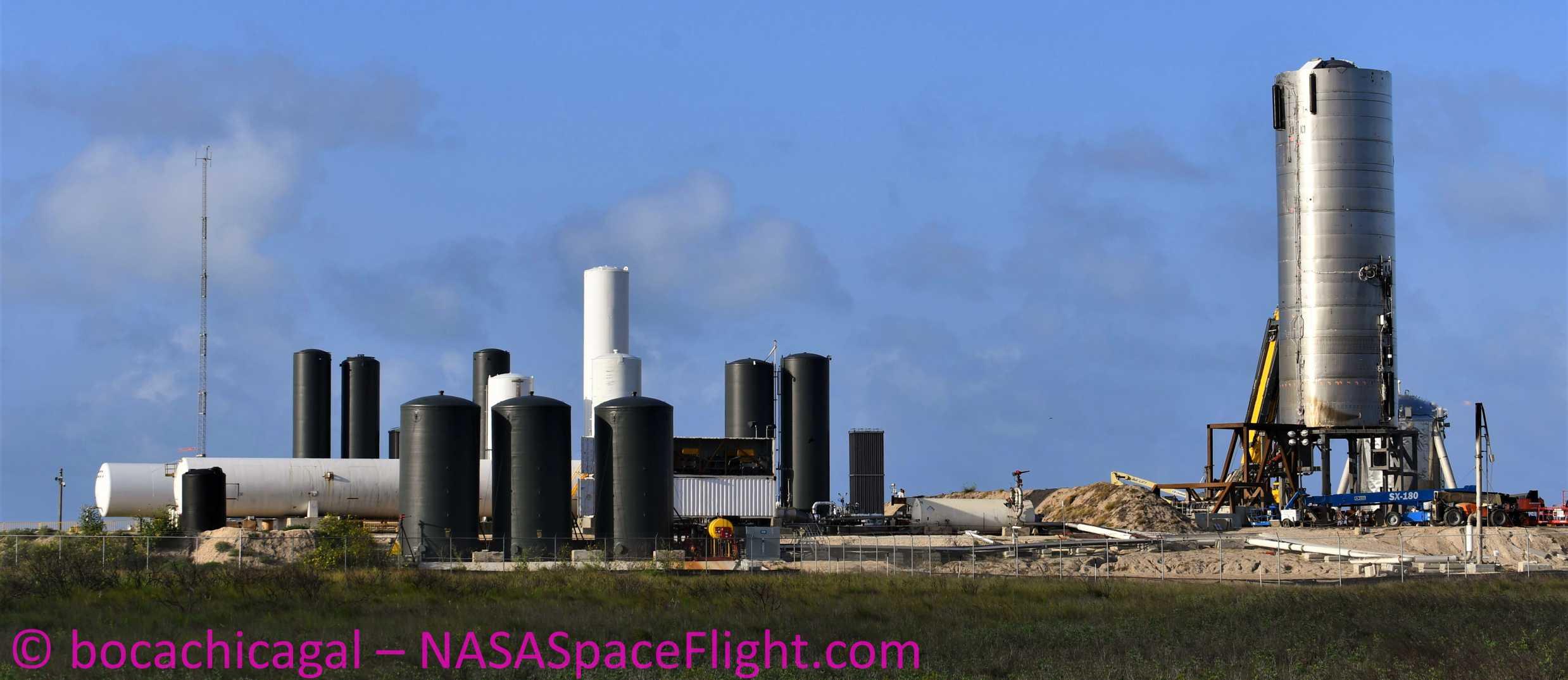 Starship Boca Chica 052320 (NASASpaceflight – bocachicagal) SN4 work 3 crop (c)