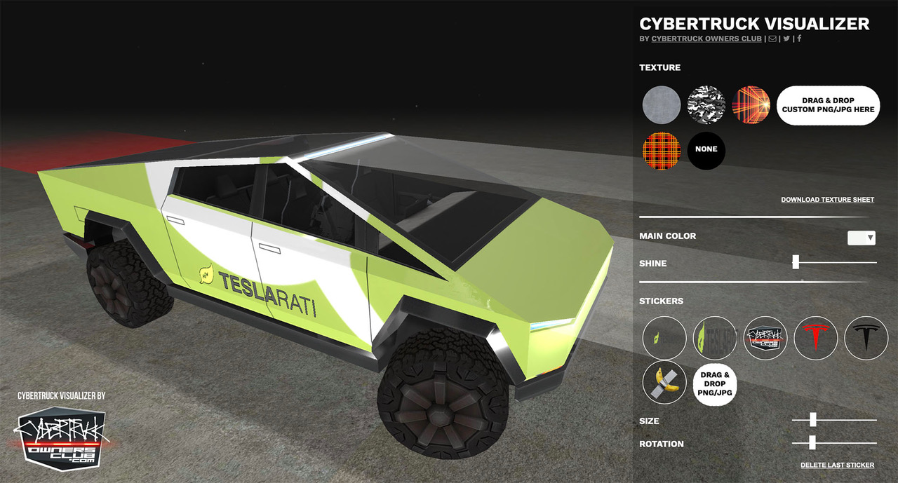 Tesla Cybertruck have you feeling impatient? Design yours using this 3D Visualizer Tool