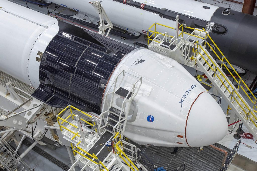 SpaceX teases exciting look at Crew Dragon mated with Falcon 9 rocket (Photos)
