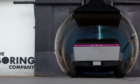 Tesla Cybertruck goes inside The Boring Company Tunnel