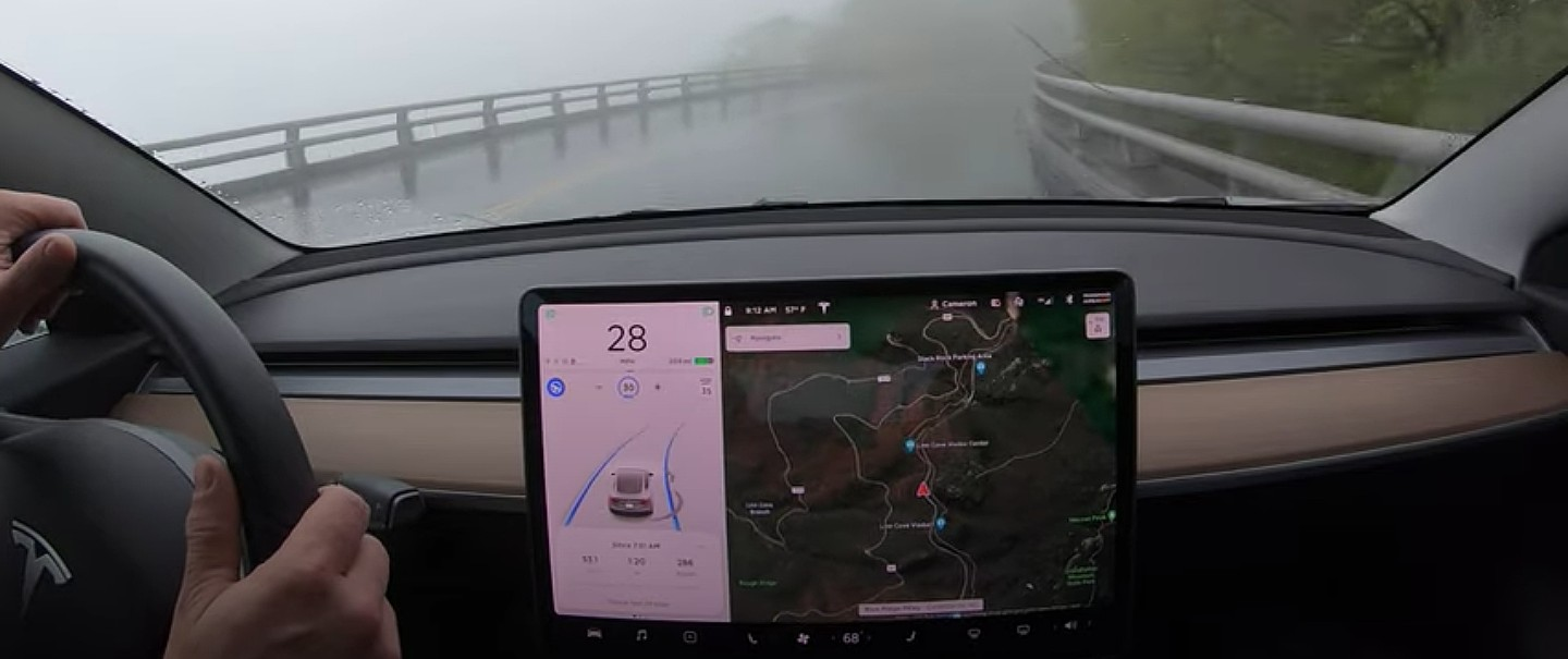 tesla-model-3-autopilot-blue-ridge-parkway