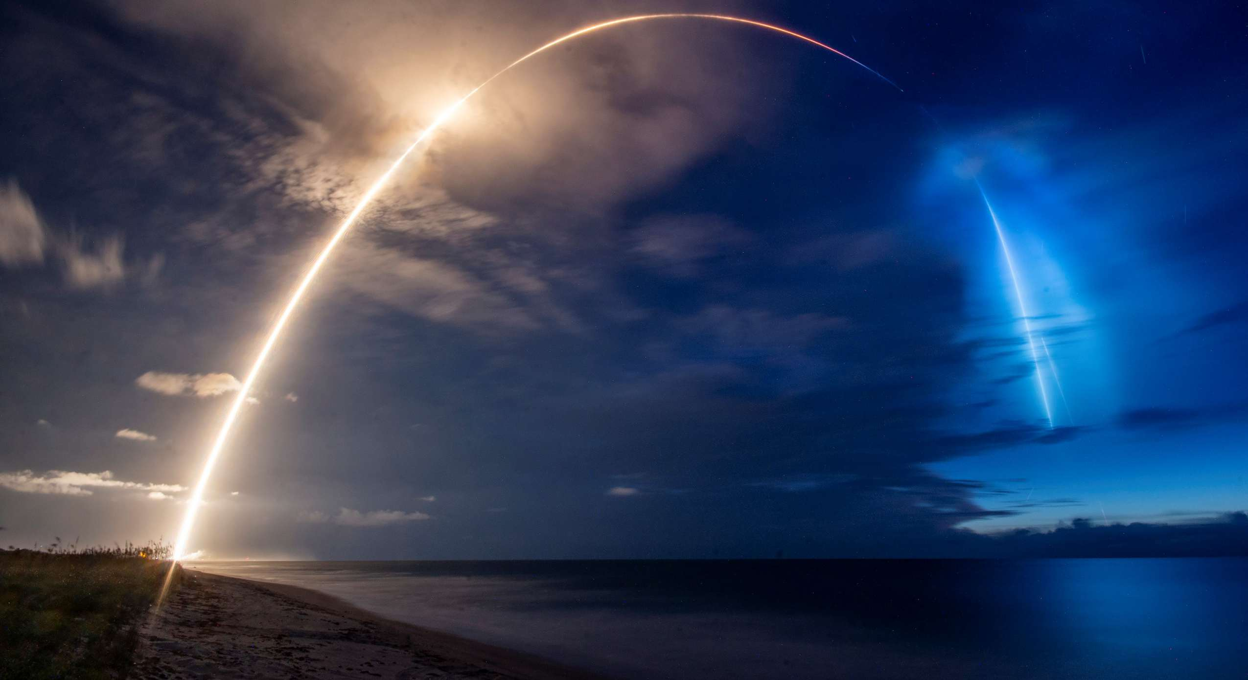 Starlink V1 L8 Falcon 9 B1059 061320 (SpaceX) launch 1 crop (c)