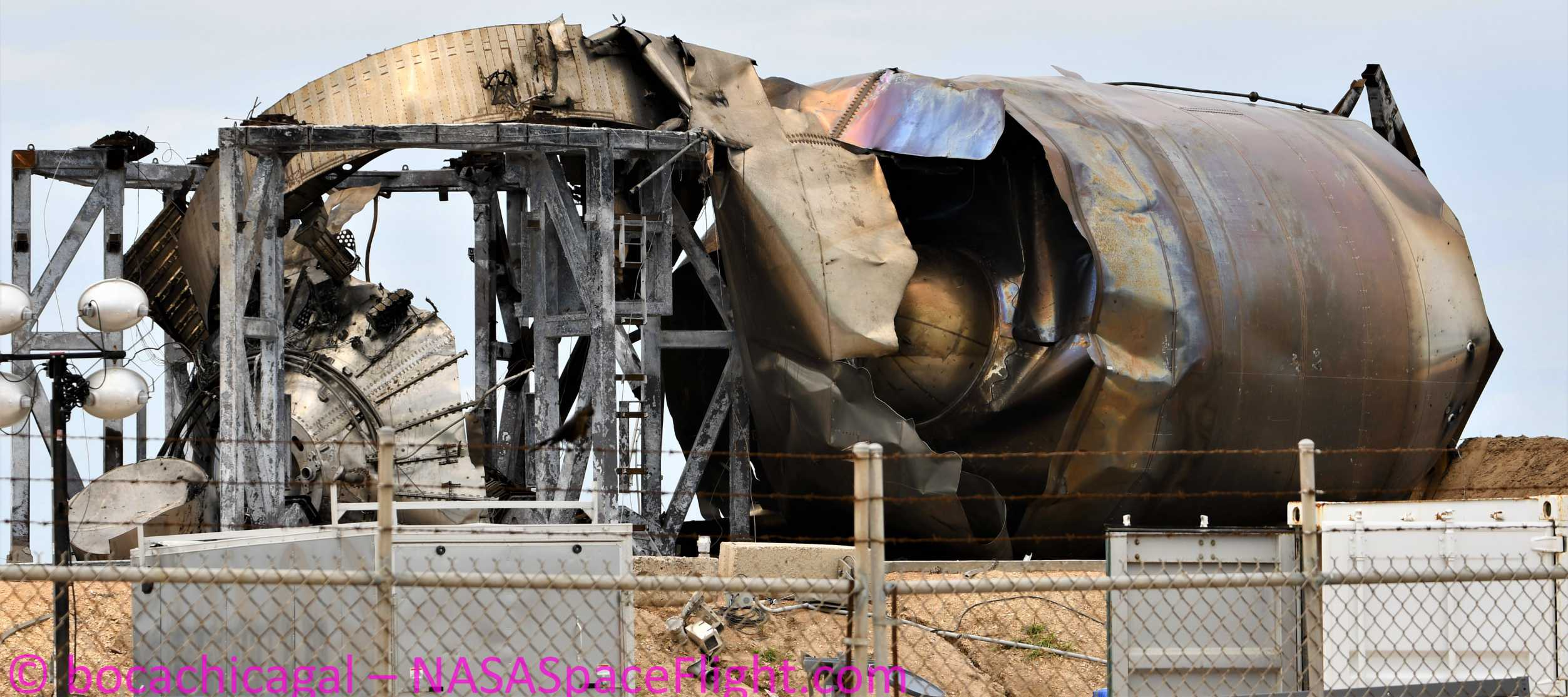 Starship Boca Chica 053020 (NASASpaceflight – bocachicagal) SN4 remains 5 crop (c)