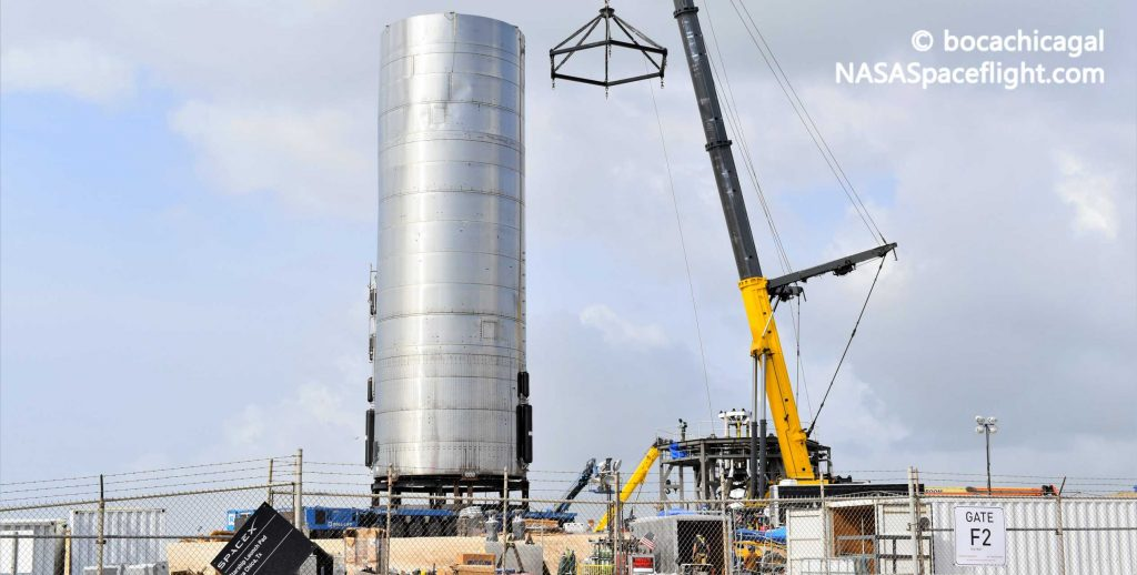 SpaceX transports fifth Starship prototype to the launch pad