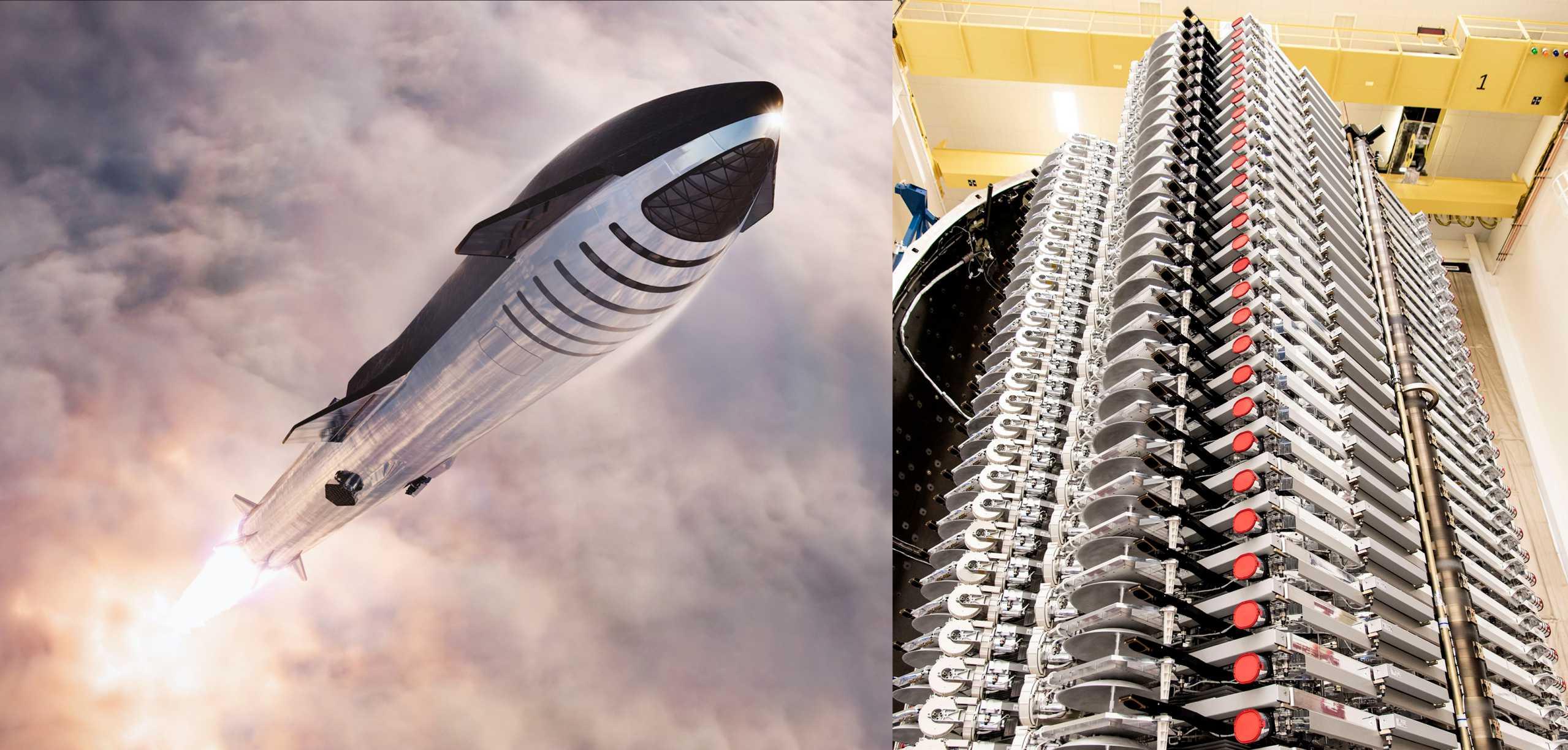 Starship Super Heavy + Starlink (SpaceX) 1 (c)