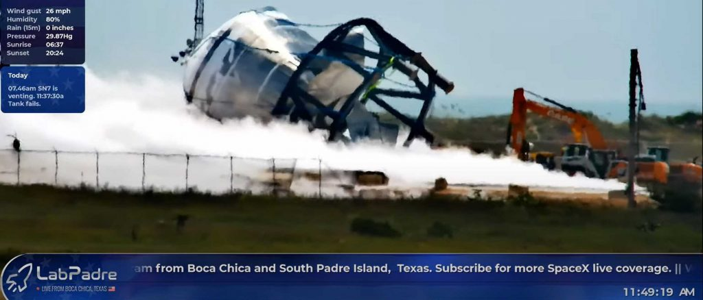 SpaceX blows up Starship tank to test new metal alloy