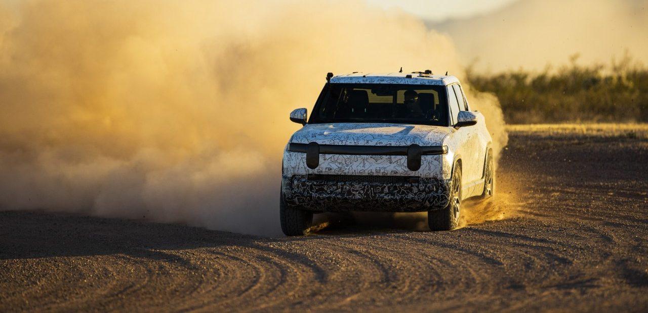 rivian-drift-loose-gravel-speed-testing