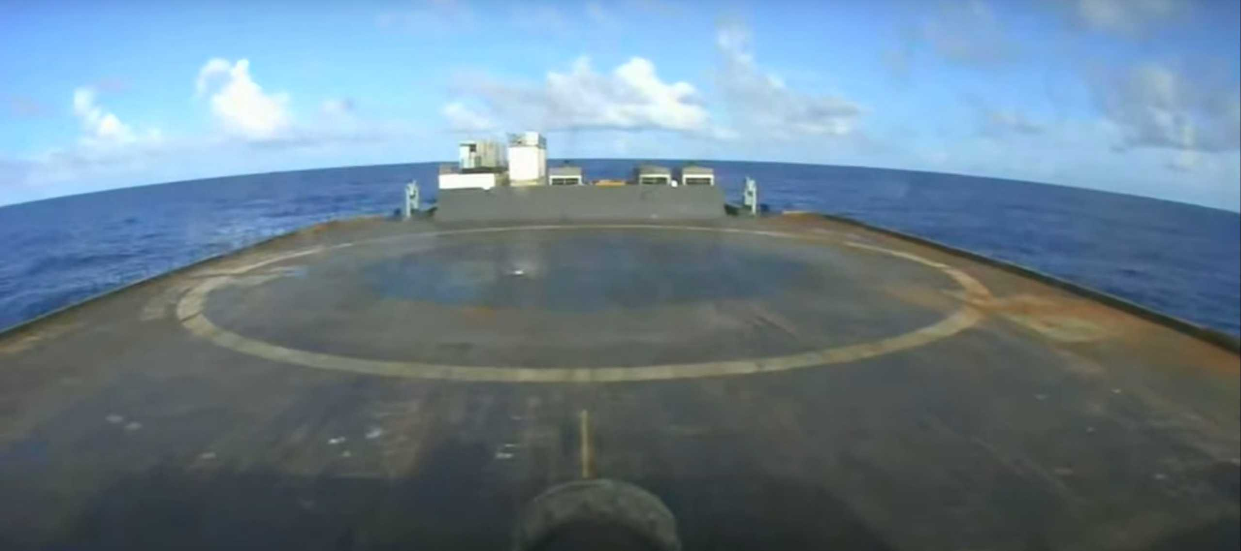 ANASIS II Falcon 9 B1058 LC-40 072020 (SpaceX) JRTI landing 1 (c)