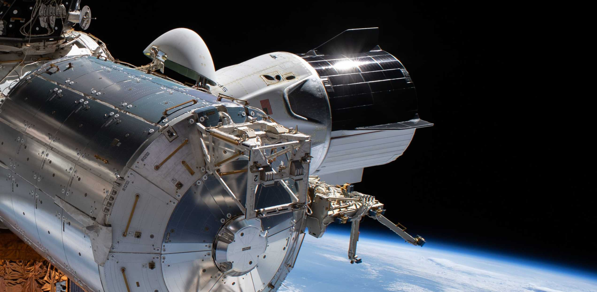 SpaceX Crew Dragon C206 Demo-2 ISS spacewalk 070120 (NASA) 2 crop 3 (c)