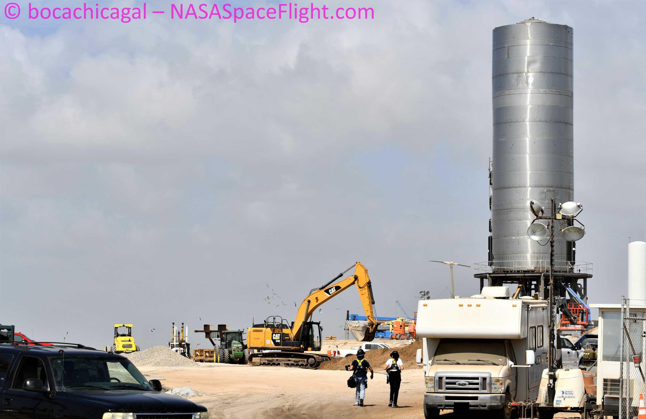 Starship Boca Chica 070720 (NASASpaceflight – bocachicagal) SN5 pad work 3 (c)