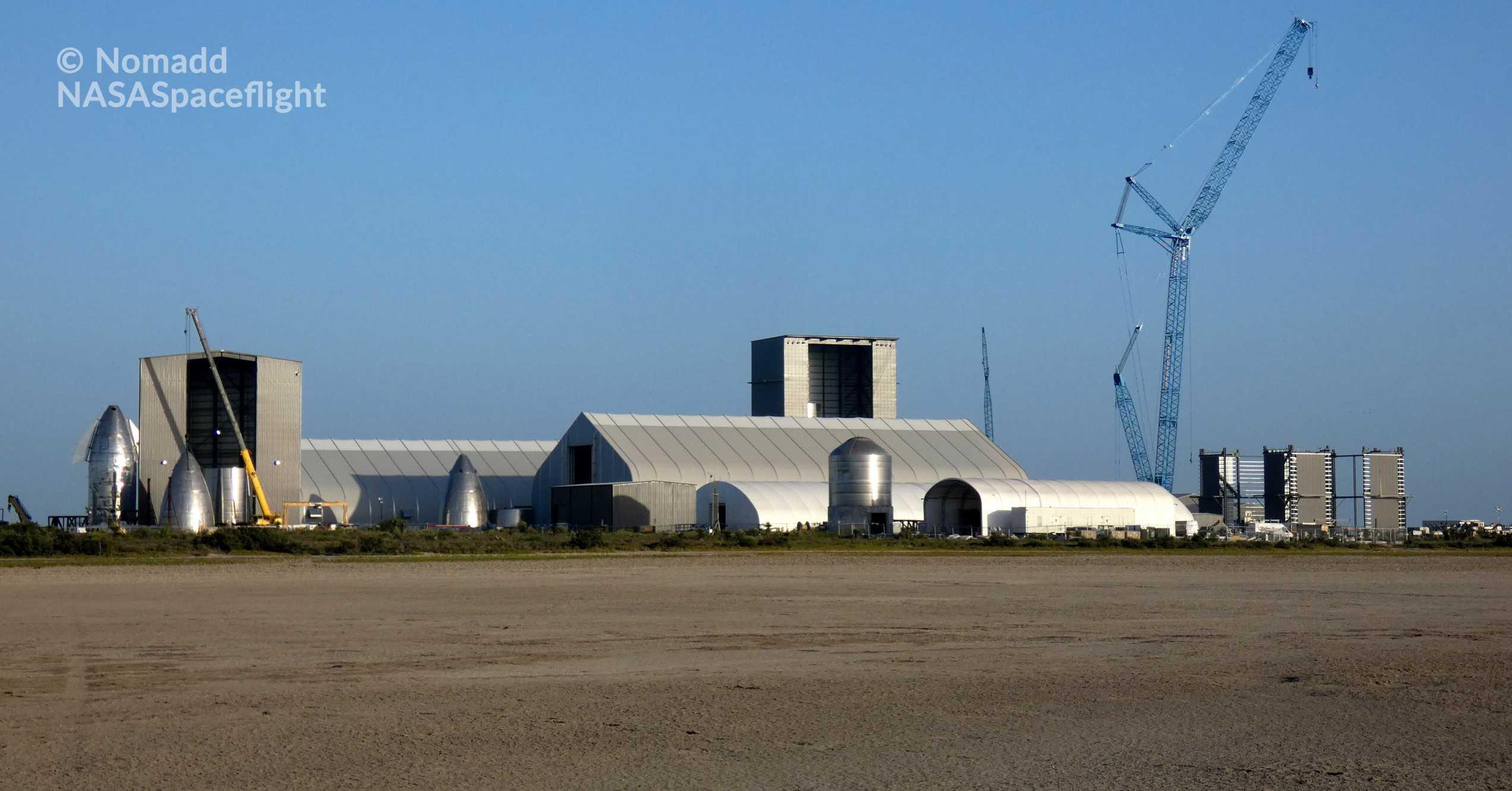 Starship Boca Chica 071320 (NASASpaceflight – Nomadd) factory overview 1 crop (c)