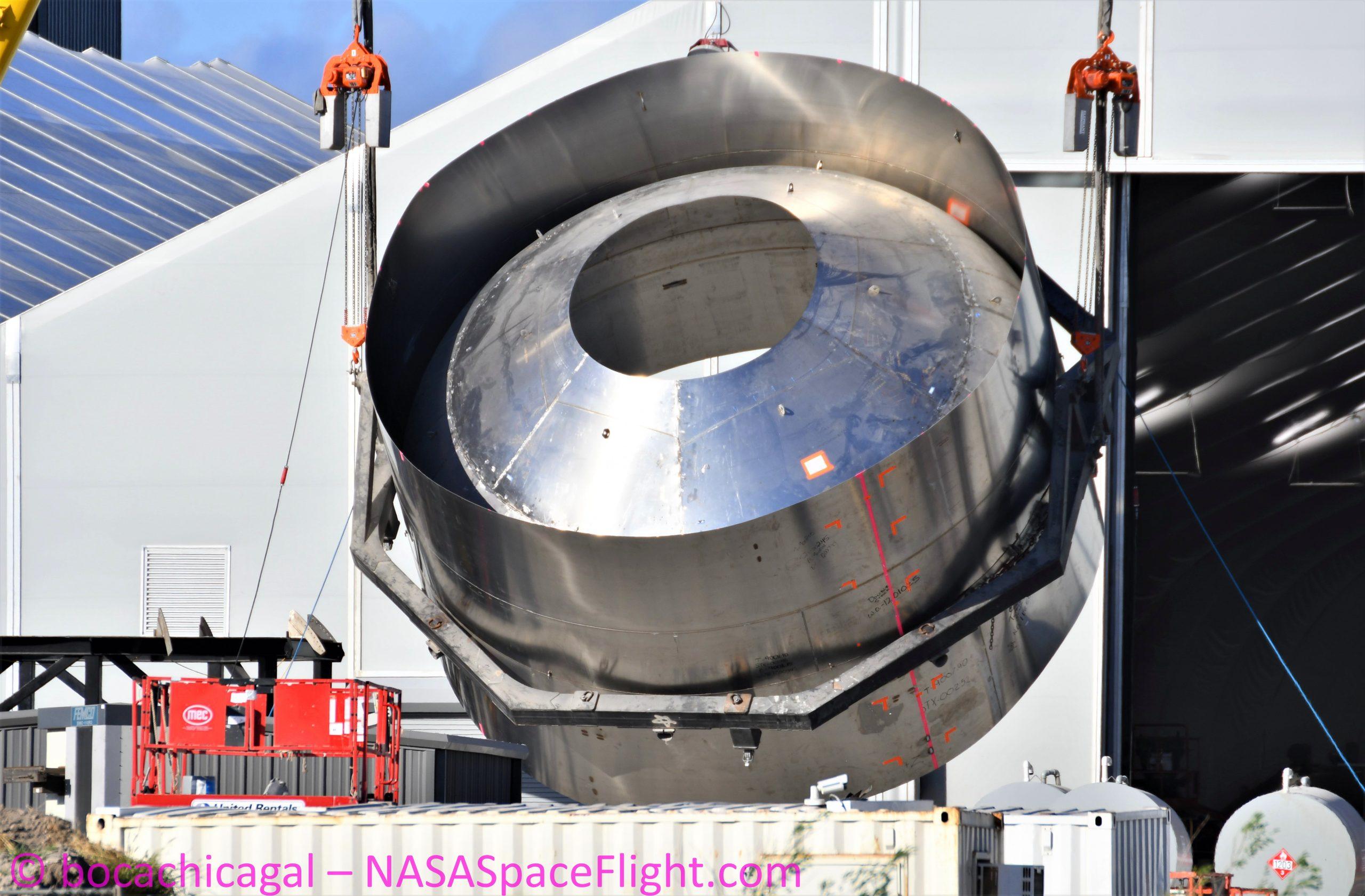 Starship Boca Chica 072220 (NASASpaceflight – bocachicagal) SN8 common dome 2