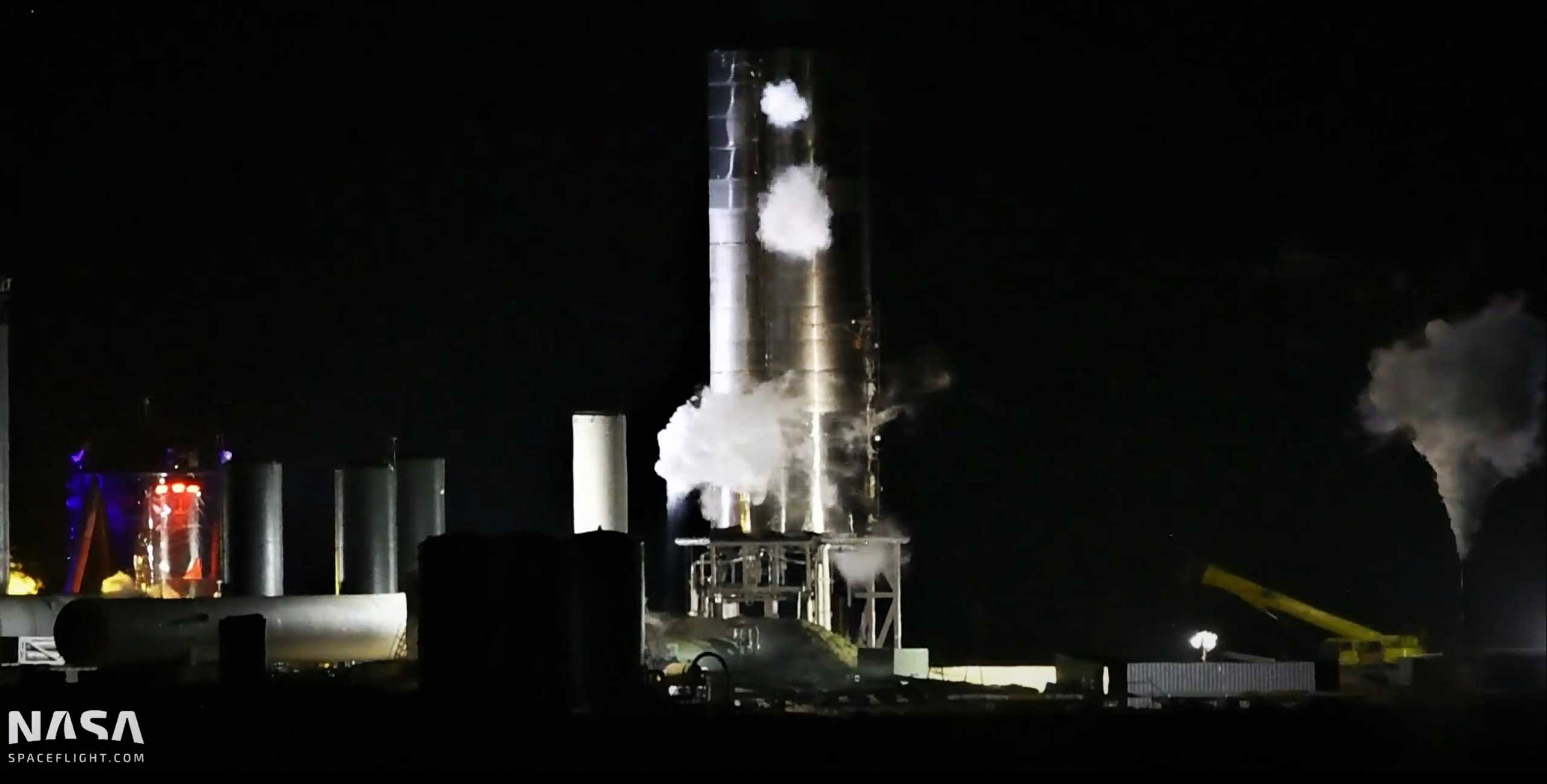 Starship Boca Chica 072720 (NASASpaceflight – bocachicagal) SN5 static fire abort 11pm 1 (c)