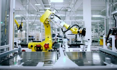 Tesla Gigafactory Nevada battery cell production line (Photo: Super Factories)