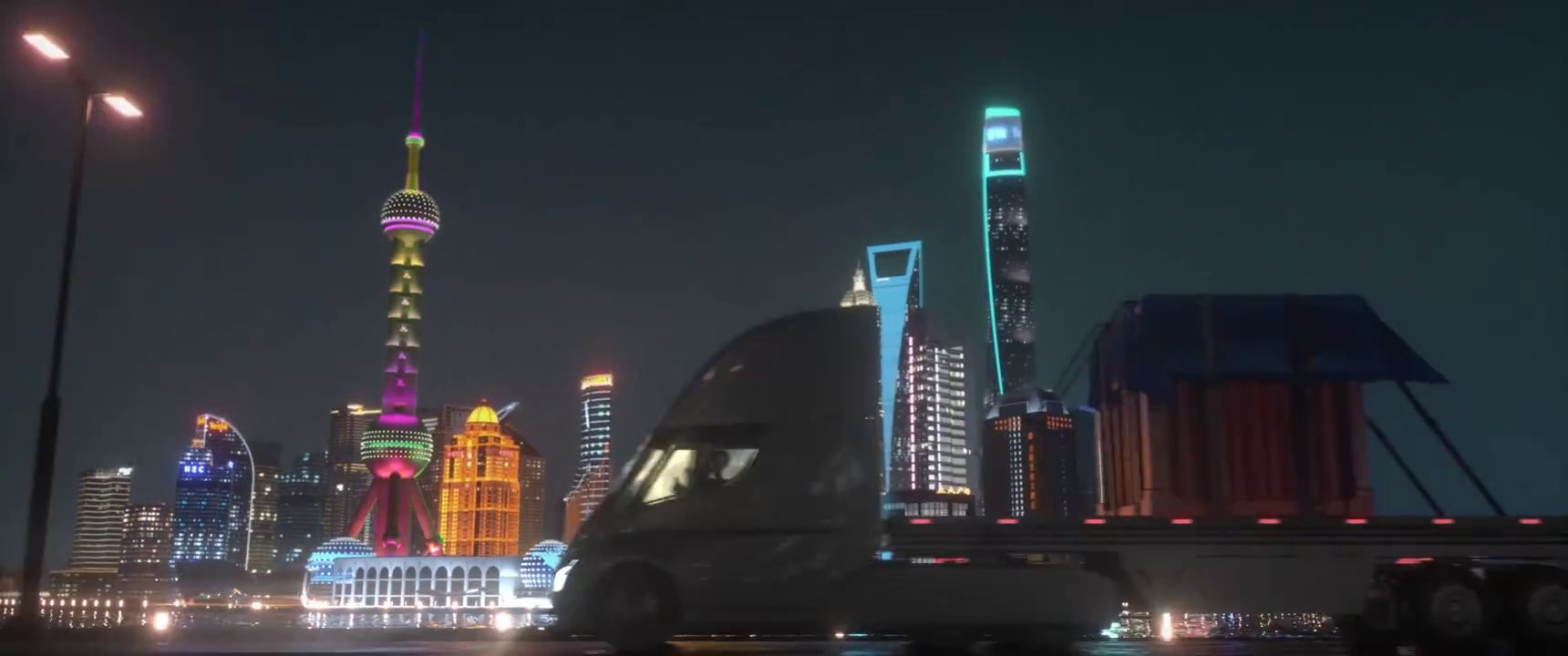 Tesla Semi truck transports mysterious crate from China factory in cool new promo